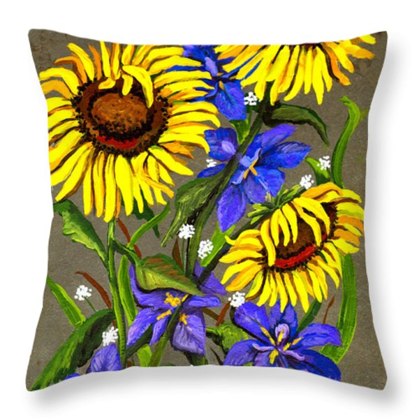 Bloom Throw Pillow by Elaine Hodges