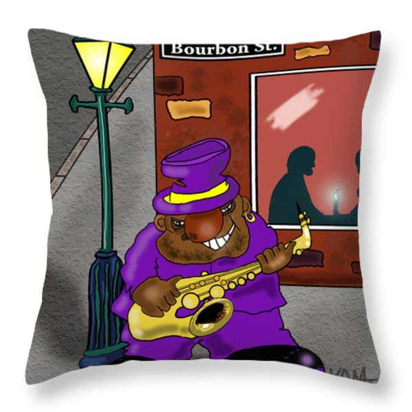 Blowin' on Bourbon Throw Pillow by Kev Moore