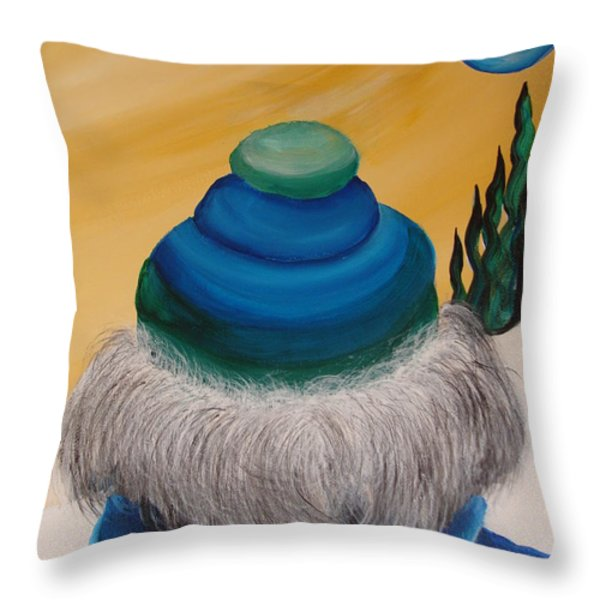 Blue Above 2 Throw Pillow by Beverly Livingstone