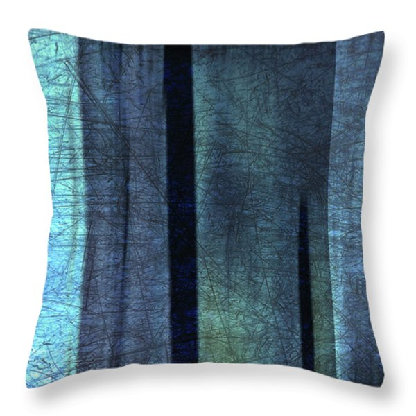 Blue Abstract Throw Pillow by Iris Lehnhardt