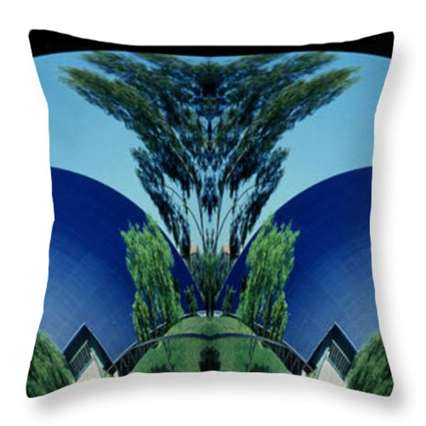 Blue Arches Throw Pillow by Paul W Faust -  Impressions of Light