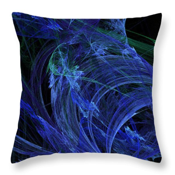 Blue Breeze Throw Pillow by Andee Design