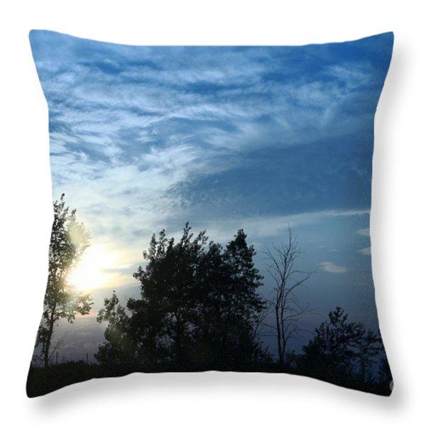Blue Canvas Sky 03 Throw Pillow by Aimelle