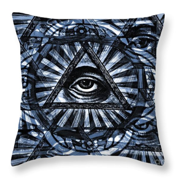 Blue Eyes Throw Pillow by Chris Berry