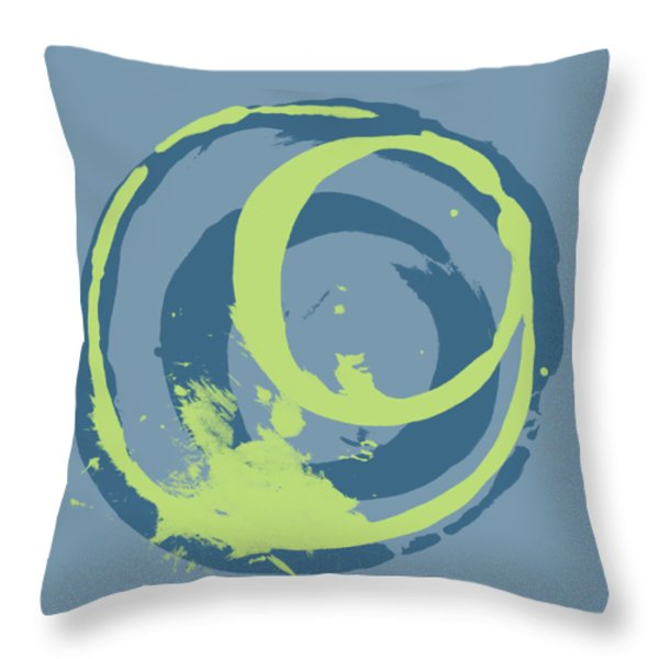 Blue Green 2 Throw Pillow by Julie Niemela
