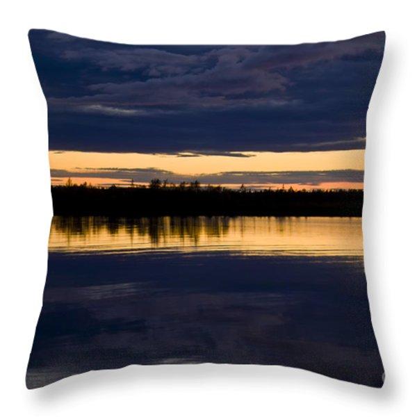 Blue hour Throw Pillow by Heiko Koehrer-Wagner