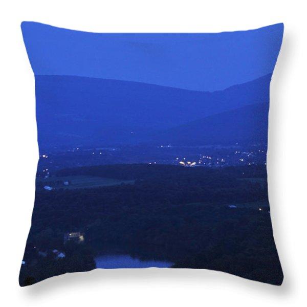 Blue Moon Throw Pillow by Lara Ellis