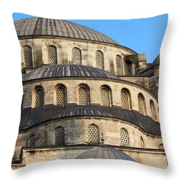 Blue Mosque Domes Throw Pillow by Artur Bogacki
