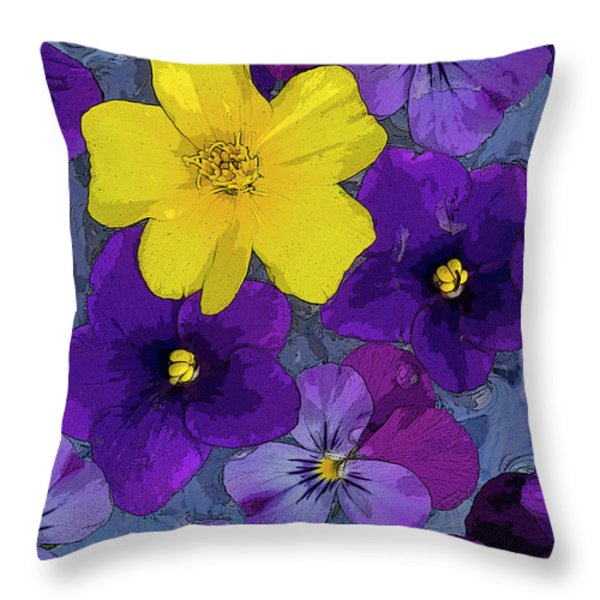 Blue Pond Throw Pillow by JQ Licensing