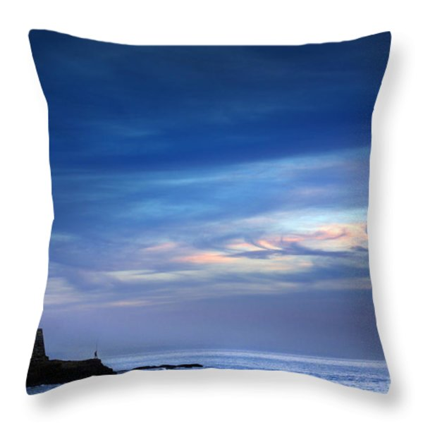 Blue Storm Throw Pillow by Carlos Caetano