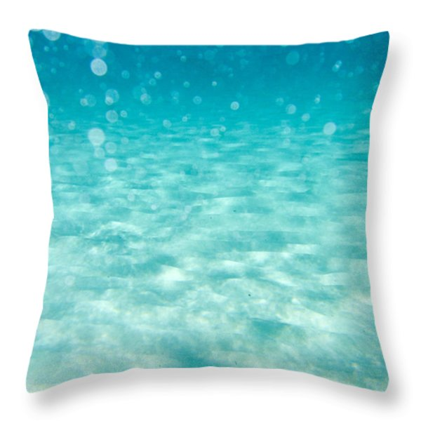 blue Throw Pillow by Stylianos Kleanthous