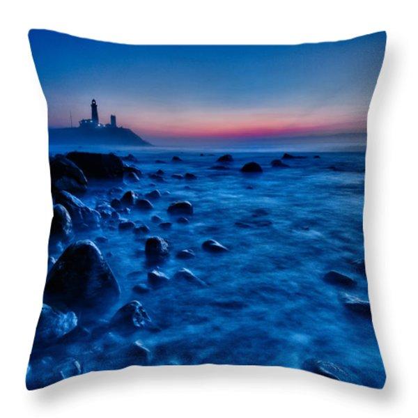 Blue Tide Throw Pillow by Rick Berk