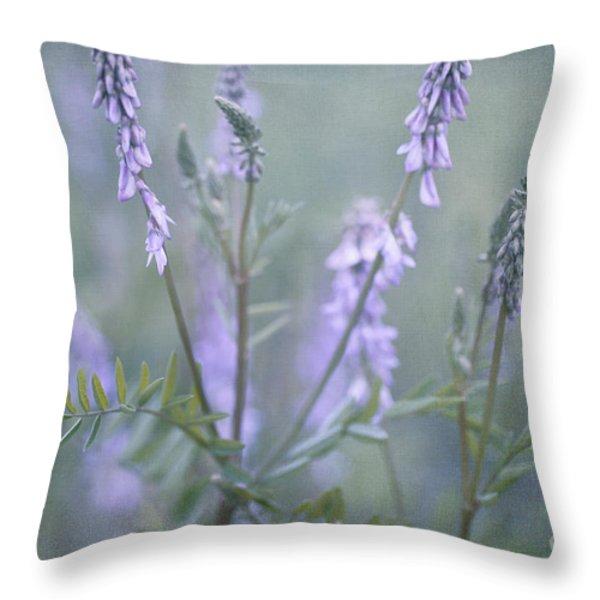 blue vervain Throw Pillow by Priska Wettstein