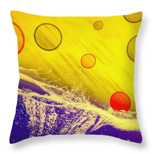 Blue Yellow Red Throw Pillow by Bob Orsillo
