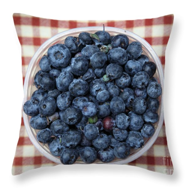 Blueberries - 5D17825 Throw Pillow by Wingsdomain Art and Photography
