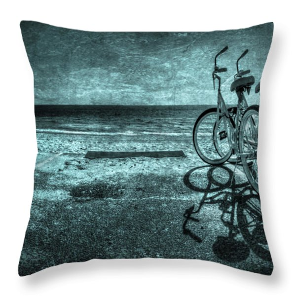 Bluescape Throw Pillow by Evelina Kremsdorf