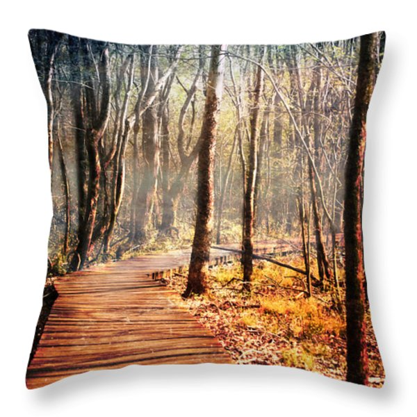 Boardwalk Throw Pillow by Jai Johnson