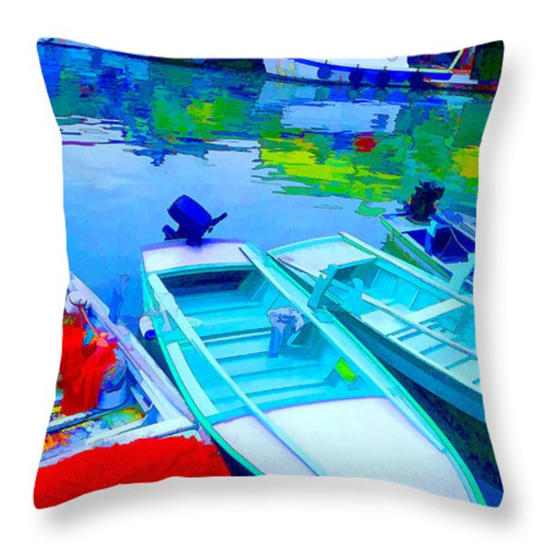 Boats Throw Pillow by Mauro Celotti