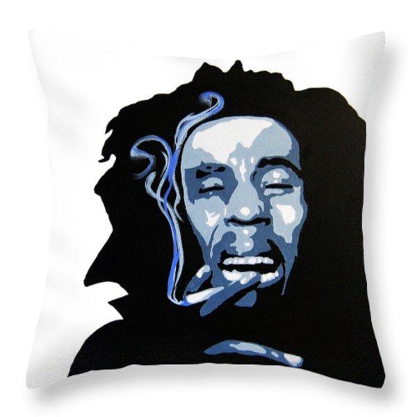 Bob Marley Throw Pillow by Michael Ringwalt