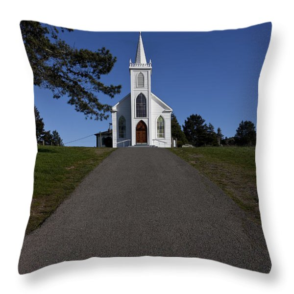 Bodega Church Throw Pillow by Garry Gay