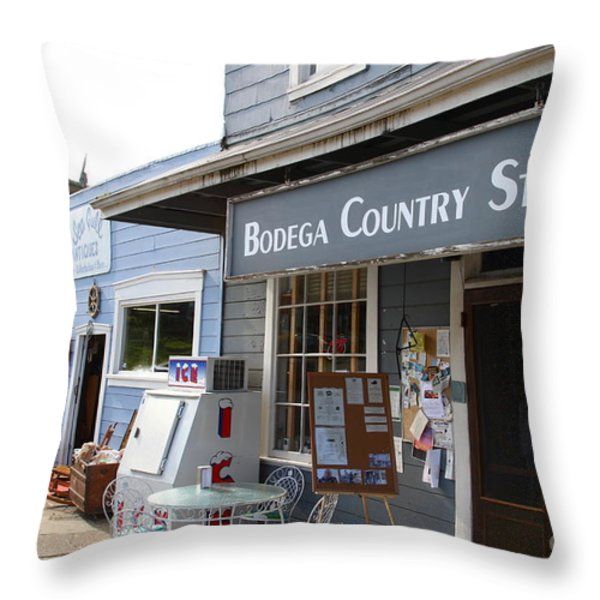 Bodega Country Store . Bodega Bay . Town of Bodega . California . 7D12452 Throw Pillow by Wingsdomain Art and Photography