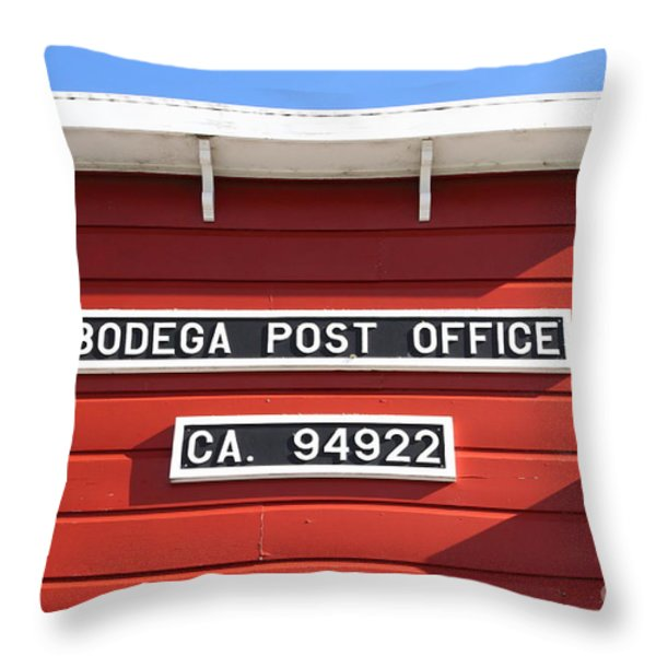 Bodega Post Office . Bodega Bay . Town Of Bodega . California . 7d12465 Throw Pillow by Wingsdomain Art and Photography