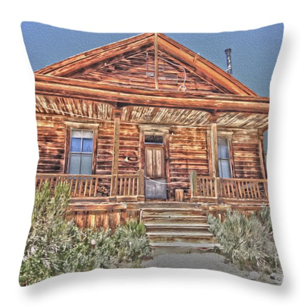 Bodie Images Throw Pillow by Cheryl Young