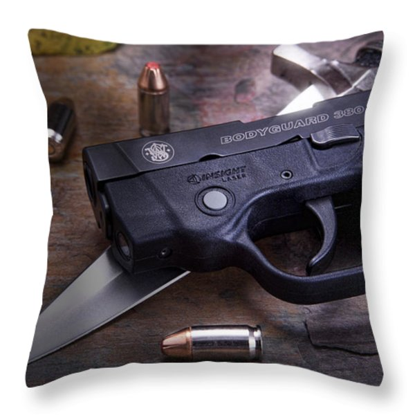Bodyguard Concealed Carry Throw Pillow by Tom Mc Nemar
