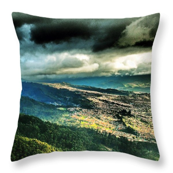 Bogota Hills Throw Pillow by Skip Hunt