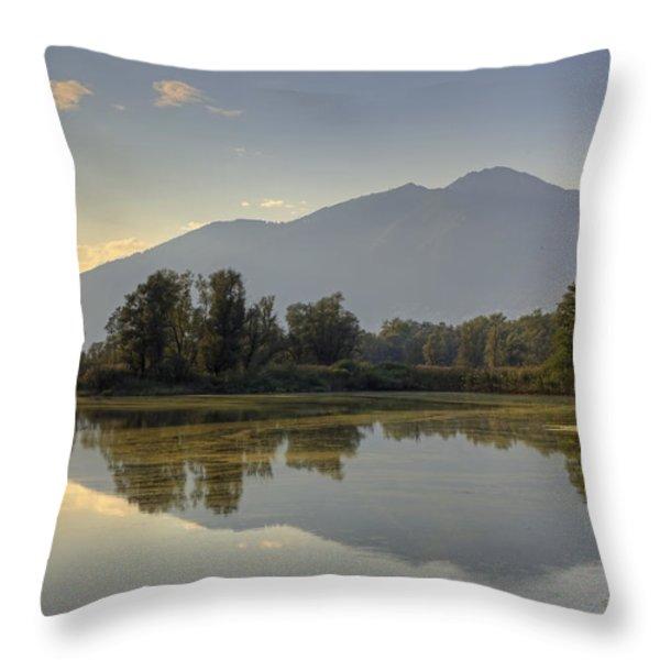 Bolle Di Magadino - Ticino Throw Pillow by Joana Kruse