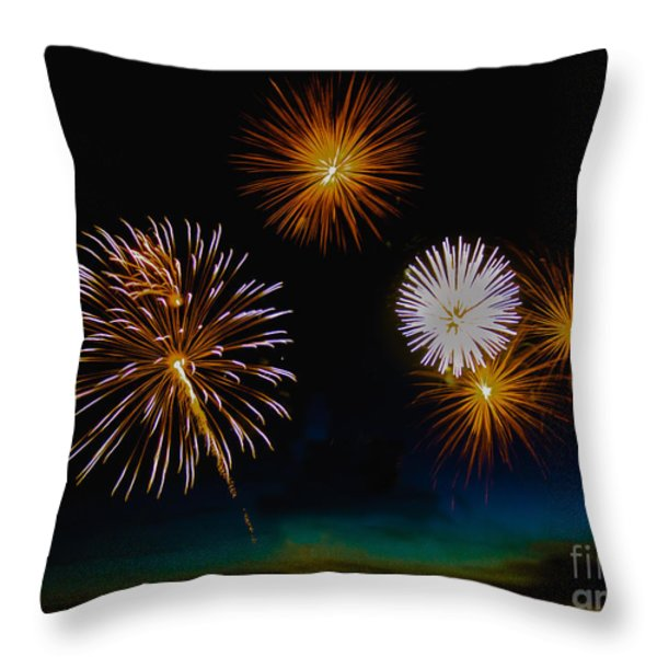 Bombs Bursting In The Air Throw Pillow by Robert Bales