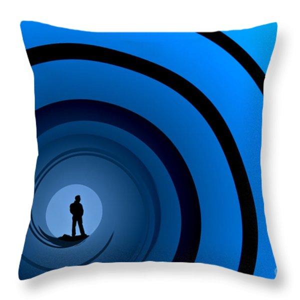 Bond Man Throw Pillow by Steve Purnell