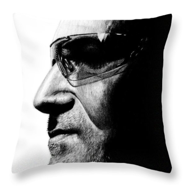 Bono - Half The Man Throw Pillow by Kayleigh Semeniuk