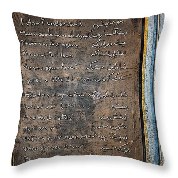 Bonvoyage America Throw Pillow by Gwyn Newcombe