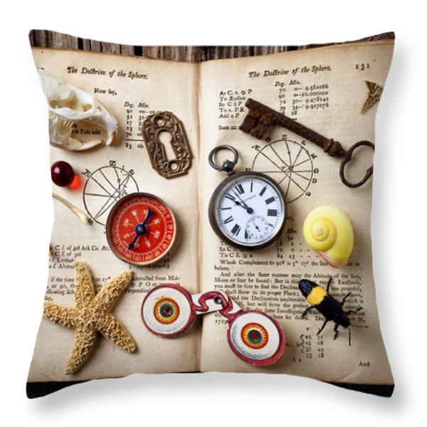 Book Of Mystery Throw Pillow by Garry Gay