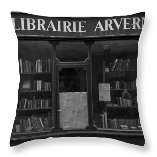Book Shop Throw Pillow by Nomad Art And  Design
