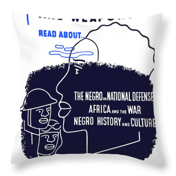Books Are Weapons Throw Pillow by War Is Hell Store
