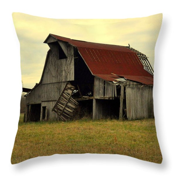 Bootheel Barn Throw Pillow by Marty Koch