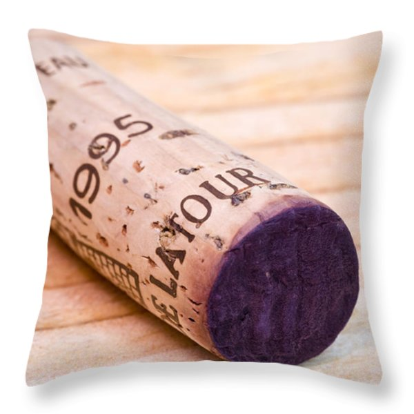 Bordeaux Wine Throw Pillow by Frank Tschakert