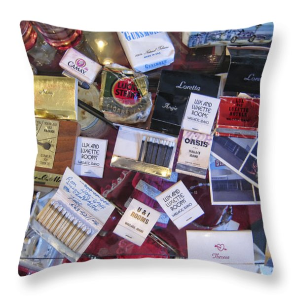 Bordello Paraphernalia 2 - Wallace Idaho Throw Pillow by Daniel Hagerman