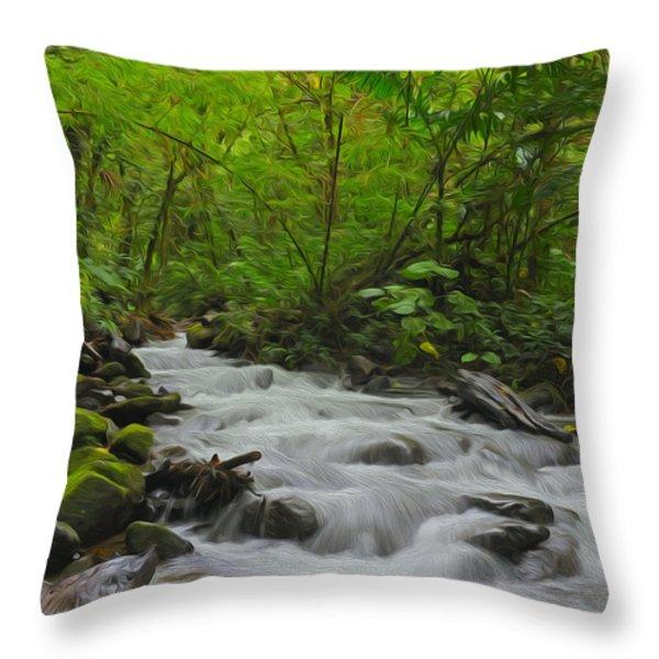 Bosque de Paz Throw Pillow by Tony Beck
