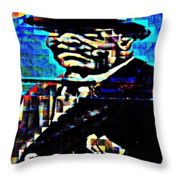 Boss Man Throw Pillow by Randall Weidner