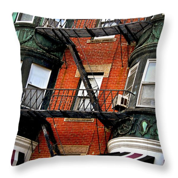 Boston house fragment Throw Pillow by Elena Elisseeva