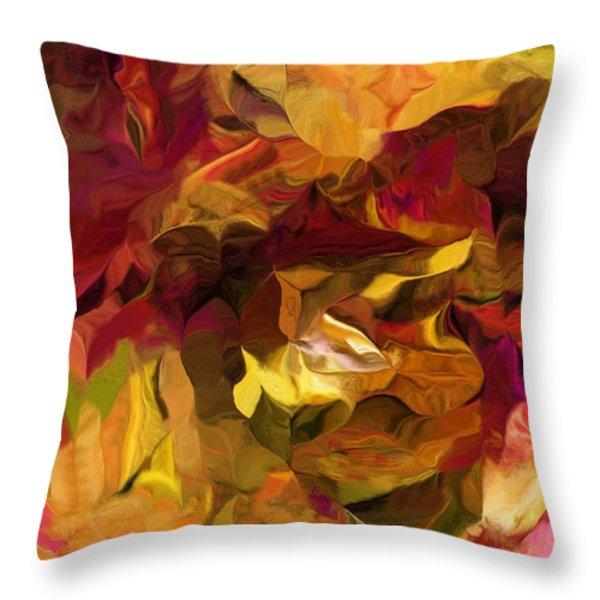 Botanical Fantasy 082012 Throw Pillow by David Lane