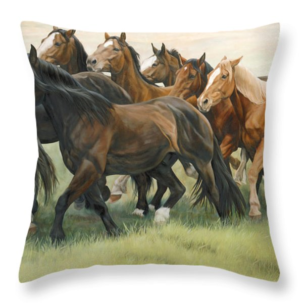 Bottleneck Throw Pillow by JQ Licensing