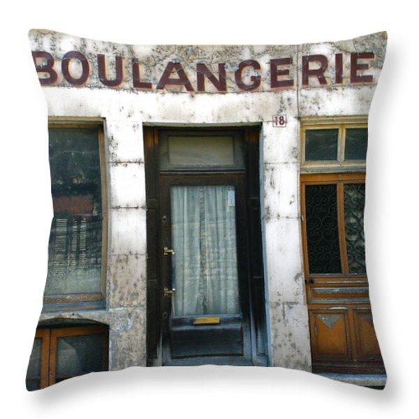 Boulangerie Throw Pillow by Georgia Fowler