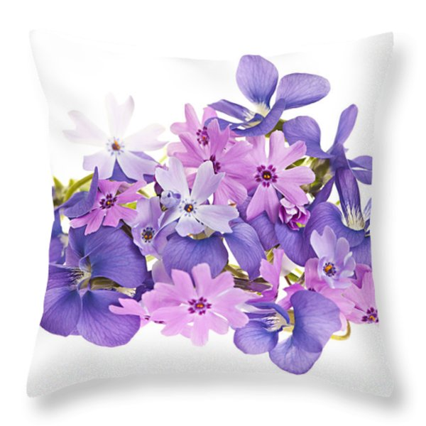 Bouquet of spring flowers Throw Pillow by Elena Elisseeva