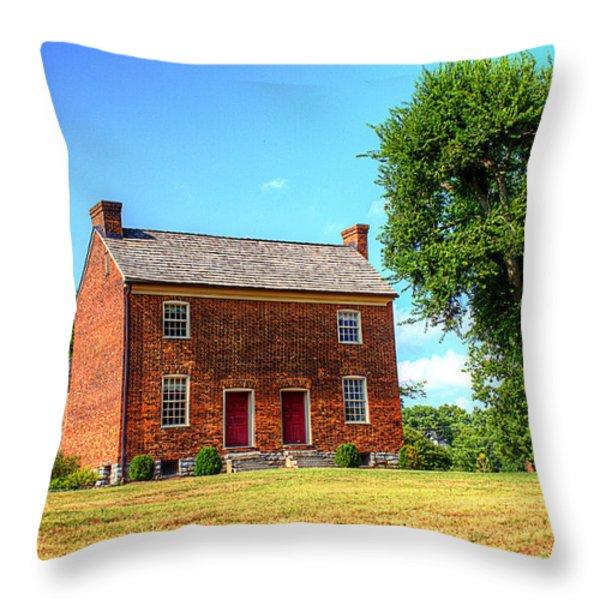 Bowen Plantation House 002 Throw Pillow by Barry Jones