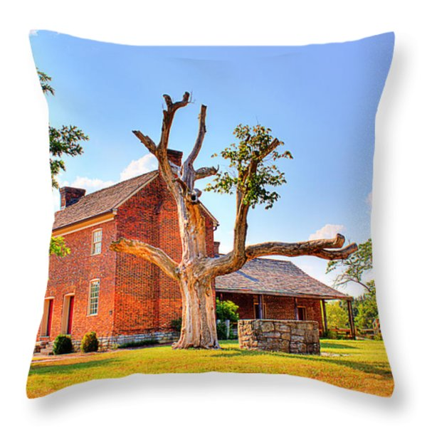 Bowen Plantation House 003 Throw Pillow by Barry Jones
