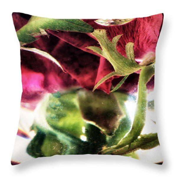 Bowl Of Roses Throw Pillow by Stelios Kleanthous